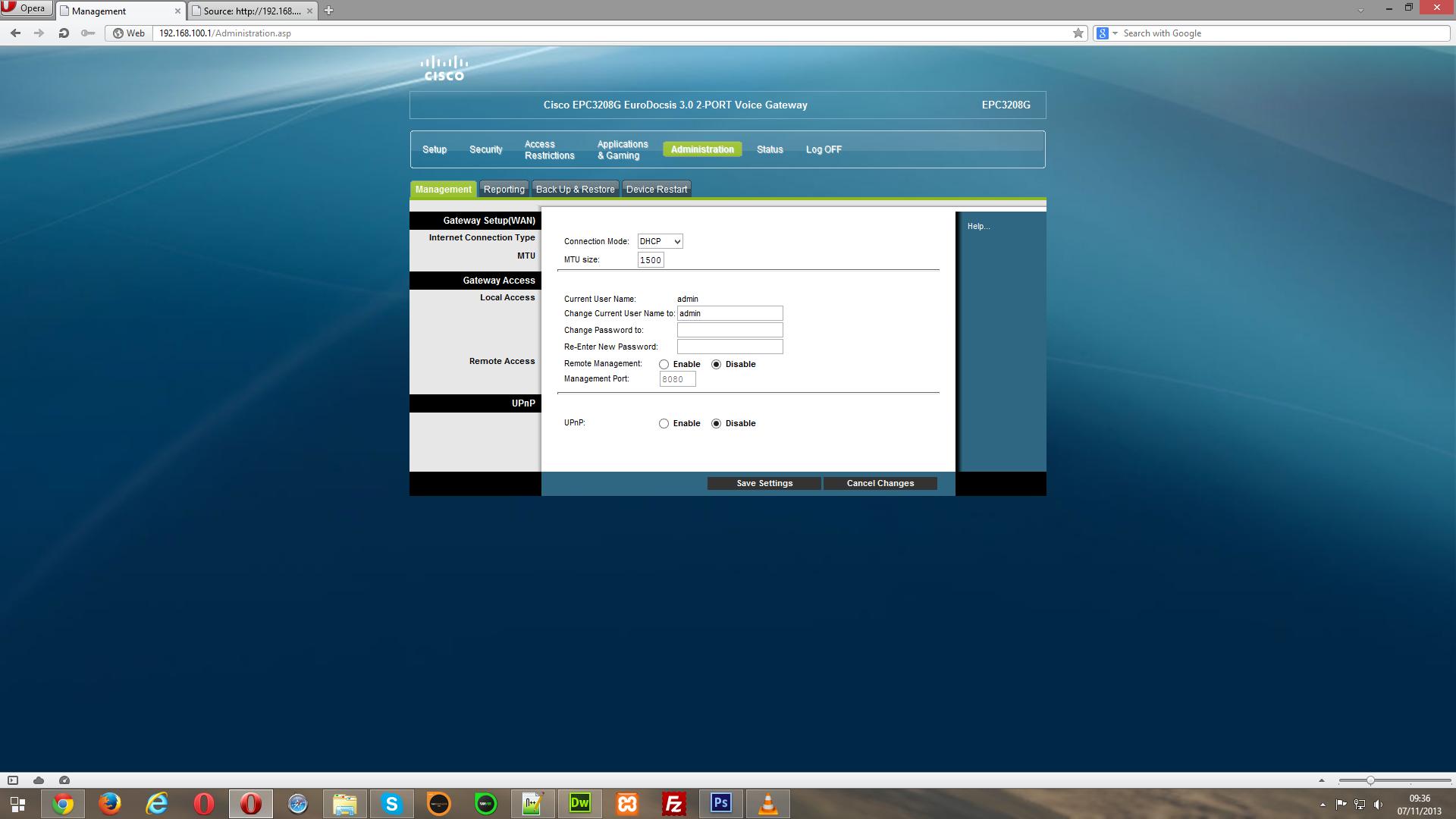 Epc3925 firmware bridge mode